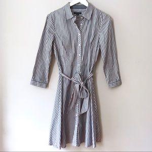 EUC Tommy Hilfiger striped button shirt dress 6